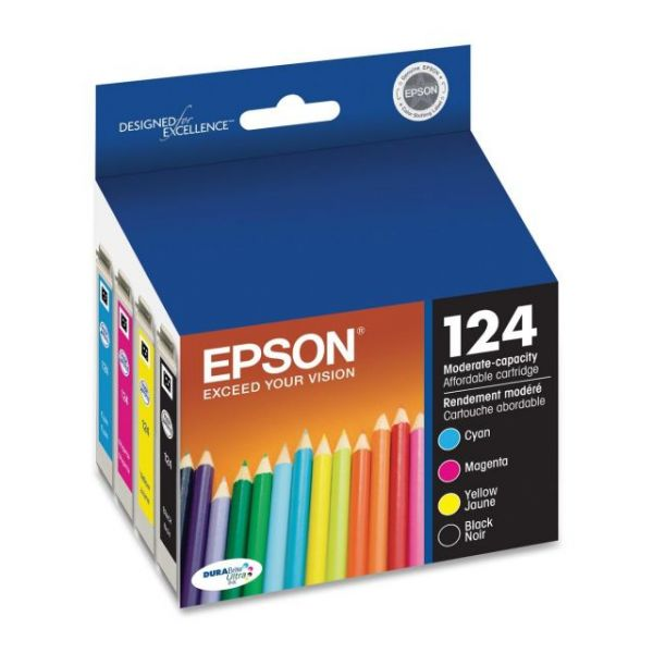 Epson 124 Black/Color Combo Pack Ink Cartridges (T124120-BCS)