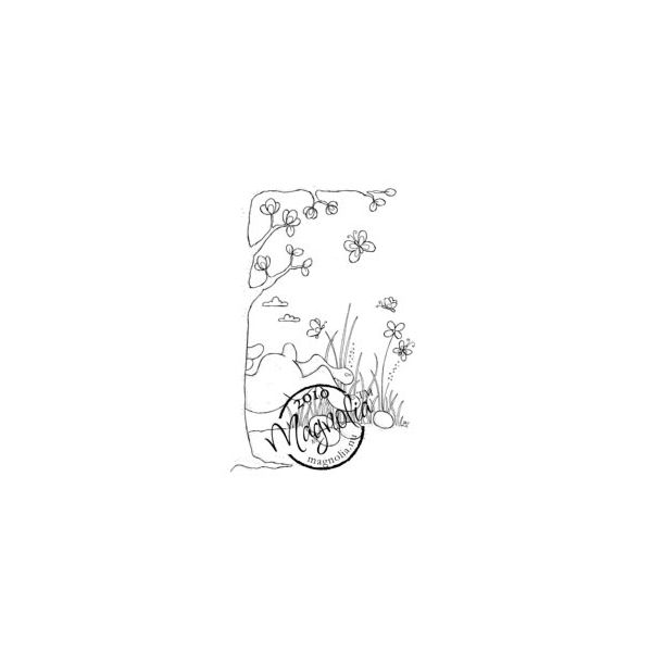 "Hoppy Easter Cling Stamp 3.75""X5.5"" Package"
