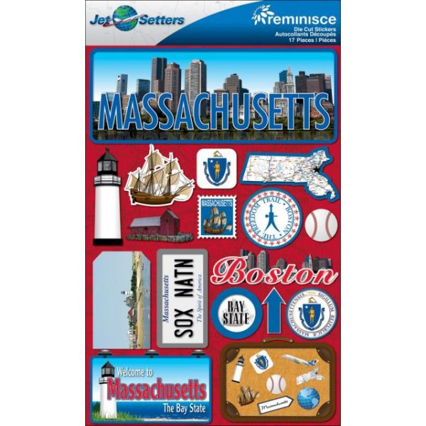 Jet Setters Dimensional Stickers
