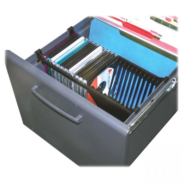 Master Caster Stor-It Media File CD Rack, 24 Disc Capacity, Black