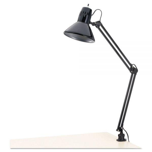 "Alera Architect Lamp, Adjustable, Clamp-on, 28"" High, Black"