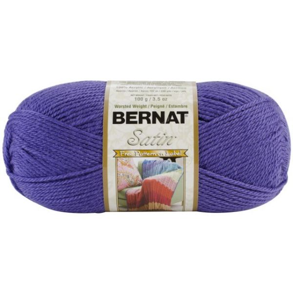 Bernat Satin Yarn - Grape