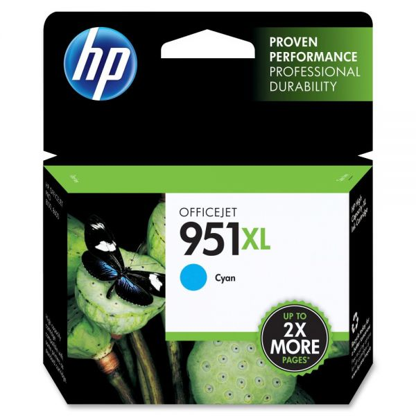 HP 951XL High Yield Cyan Ink Cartridge (CN046AN)
