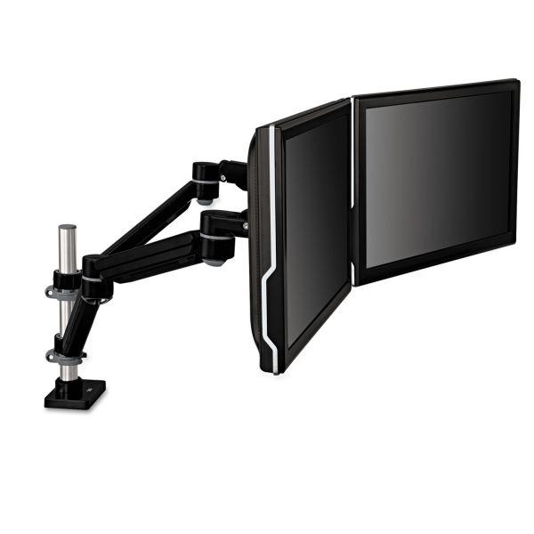 3M Easy-Adjust Dual Monitor Arm, 4 1/2 x 25 1/2, Black/Gray