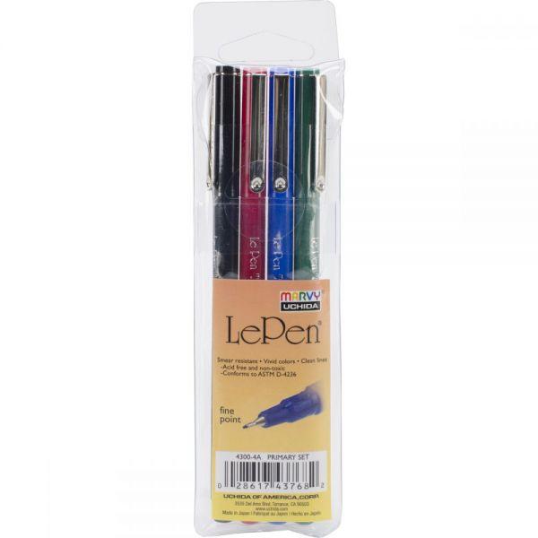 Le Pens .03mm Point 4/Pkg
