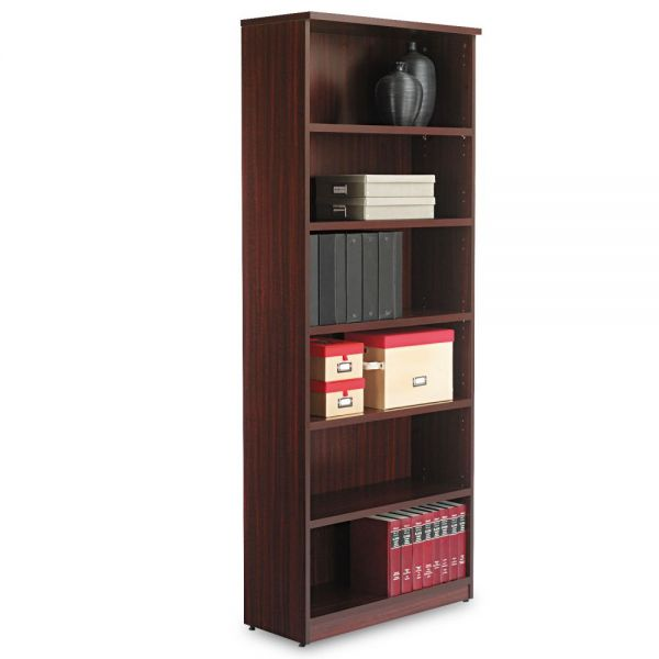 Alera Valencia Series 6-Shelf Laminate Bookcase