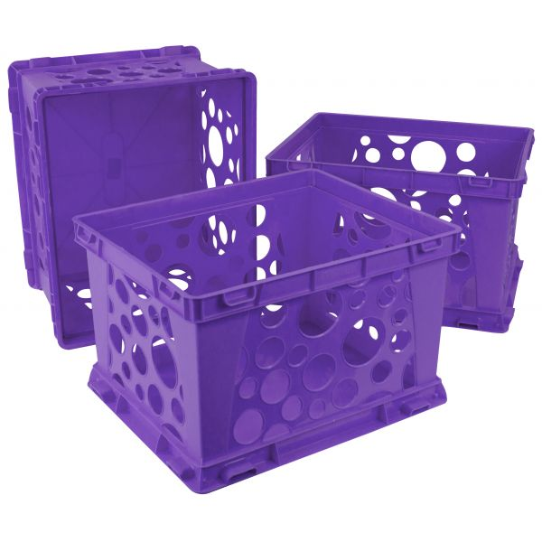 Storex Mini Crates, School Violet