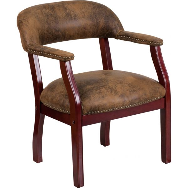 Flash Furniture Brown Microfiber Side Chair