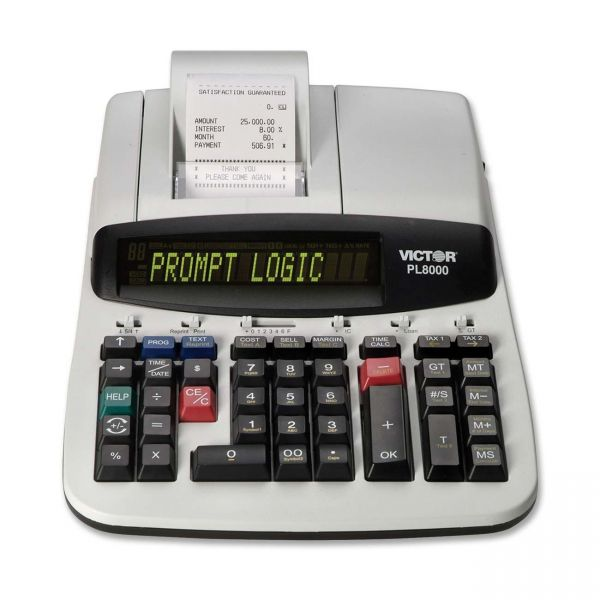 Victor PL8000 Heavy Duty Commercial Printing Calculator with Prompt Logic & HELP Button