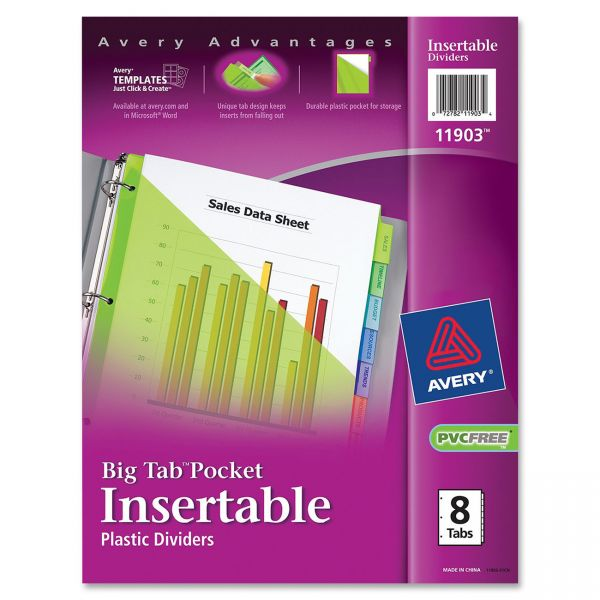 Avery Big Tab Pocket Insertable Tab Index Dividers