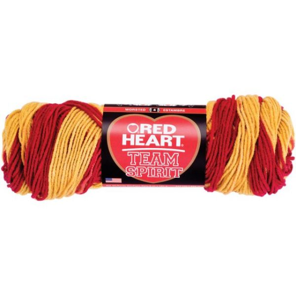 Red Heart Team Spirit Yarn - Burgundy/Gold