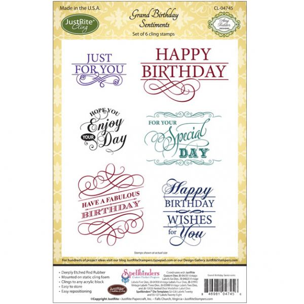 "JustRite Papercraft Cling Stamp Set 5.5""X8.5"""