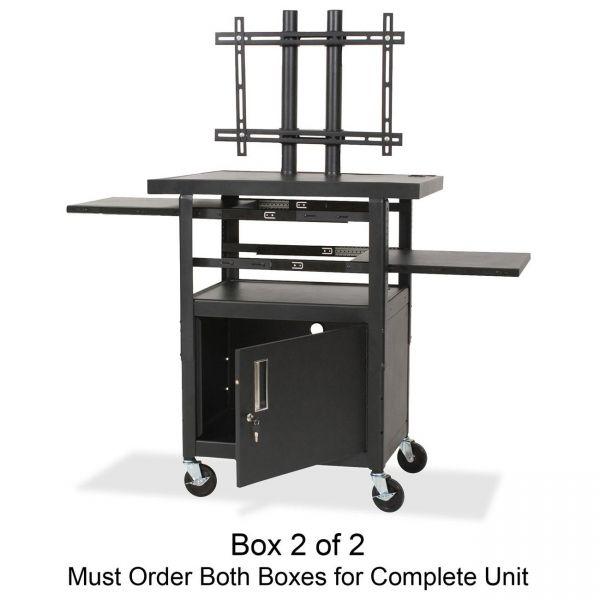 Balt Adjustable Height Flat Panel TV Cart Box 2 of 2
