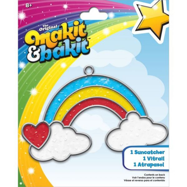 Makit & Bakit Rainbow With Clouds Suncatcher Kit