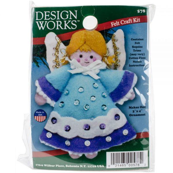 Angel Blue Ornament Felt Applique Kit