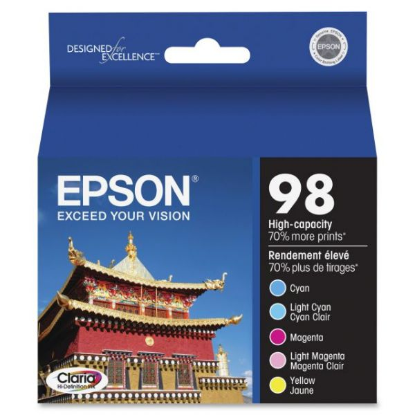 Epson 98 High Capacity Ink Cartridge Multipack (T098920)