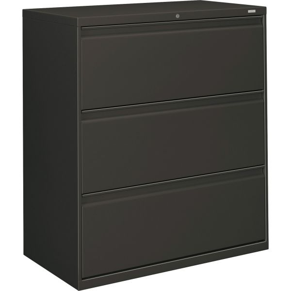 HON 800 Series Three-Drawer Lateral File, Letter/Lega/A4, 36w x 19-1/4d x 40-7/8h, Charcoal