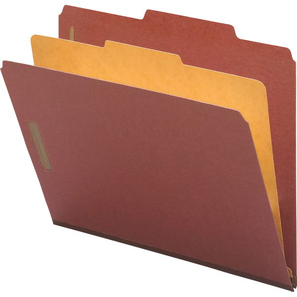 Nature Saver 1-Divider Pressboard Classification Folders