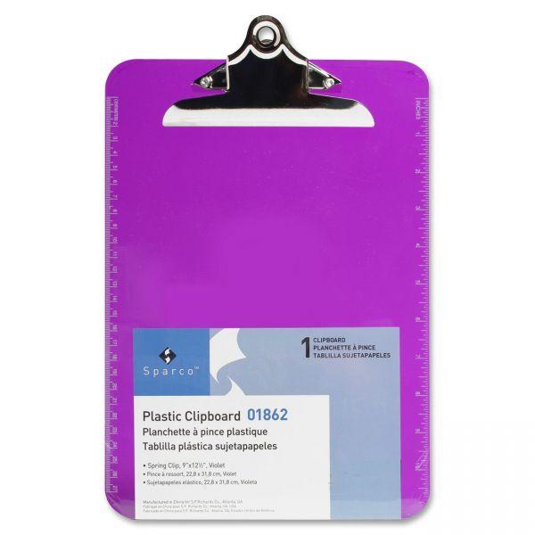 Sparco Plastic Transparent Clipboard