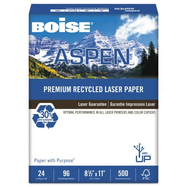 Boise ASPEN Premium Recycled Laser Printer Paper