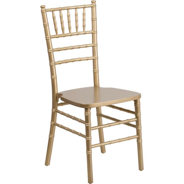 Flash Furniture Gold Wood Chiavari Chair