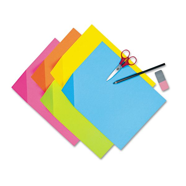 Pacon Colorwave Super Bright Tagboard, 9 x 12, Assorted Colors, 100 Sheets/Pack