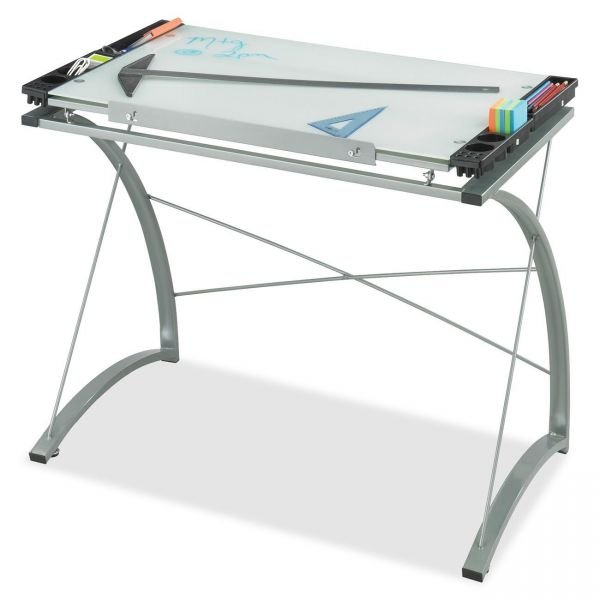 Safco Xpressions Glass Top Drafting Table