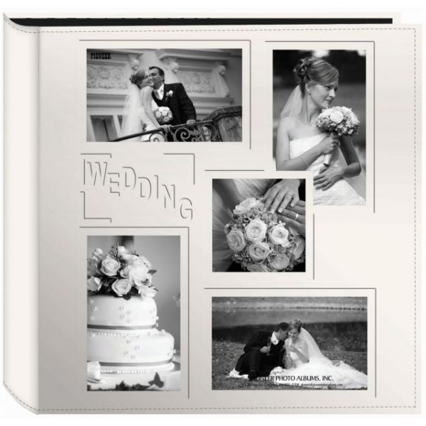 """Sewn Embossed Collage Frame 5-Up Photo Album 12""""X12"""""""