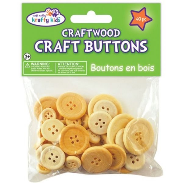 Craftwood Craft Buttons