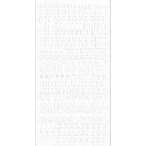 "Alphabet Stickers 6""X12"" Sheet"