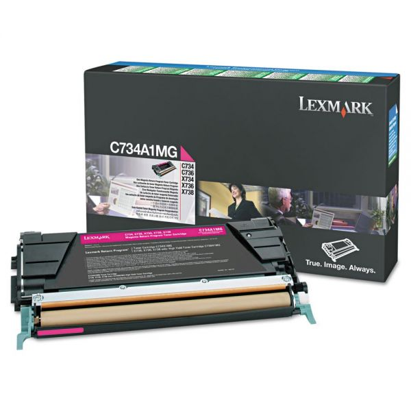 Lexmark X748H1MG Magenta High Yield Return Program Toner Cartridge