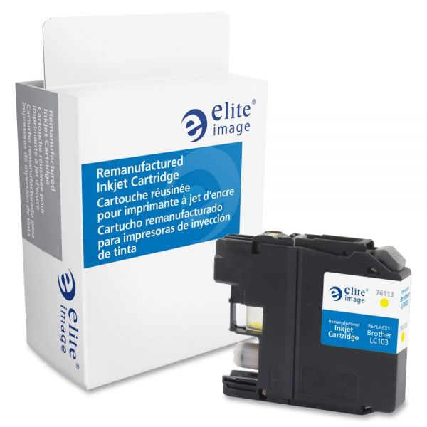Elite Image Remanufactured Brother LC103Y Ink Cartridge