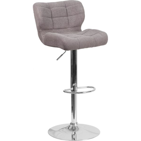 Flash Furniture Contemporary Tufted Adjustable Height Barstool