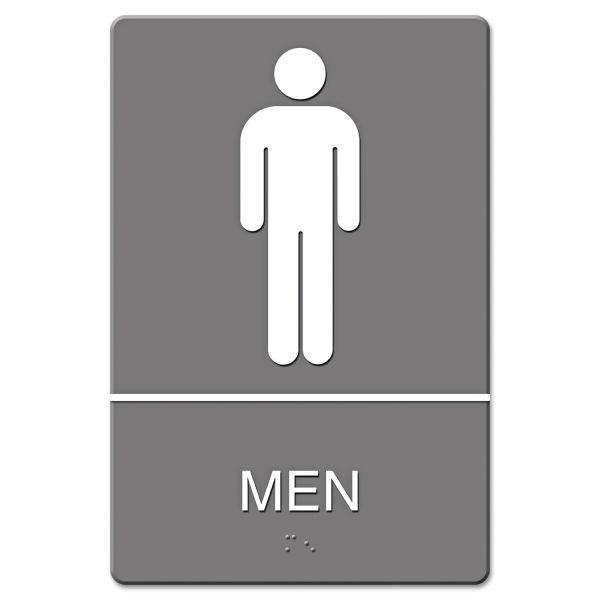 "Headline Signs ""Men"" Restroom Sign"
