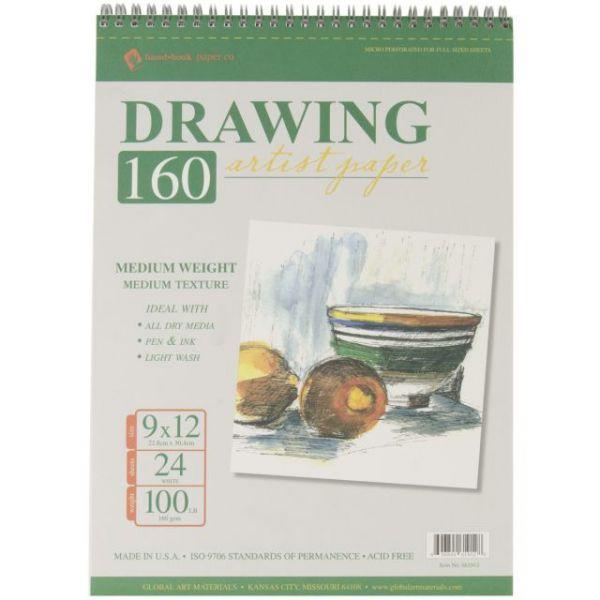 "Spiral Drawing Paper Pad 9""X12"""