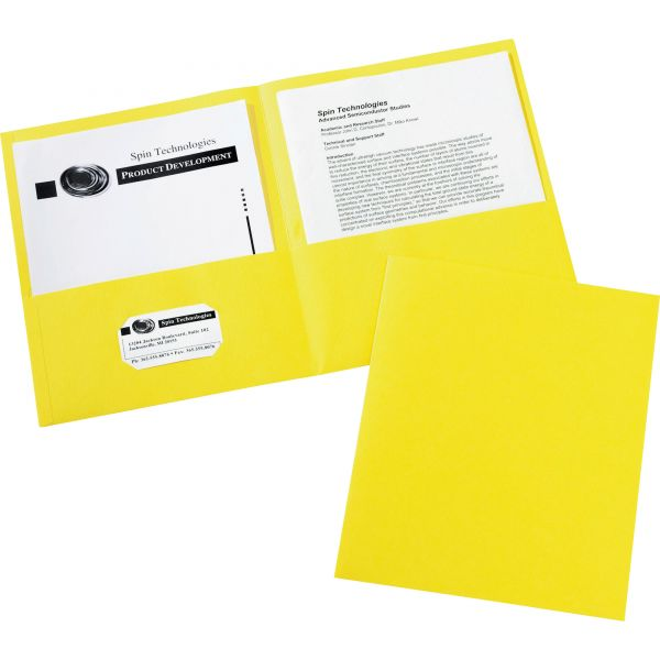 Avery Yellow Two Pocket Folders