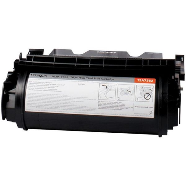 Lexmark 12A7468 High-Yield Toner, 21000 Page-Yield, Black