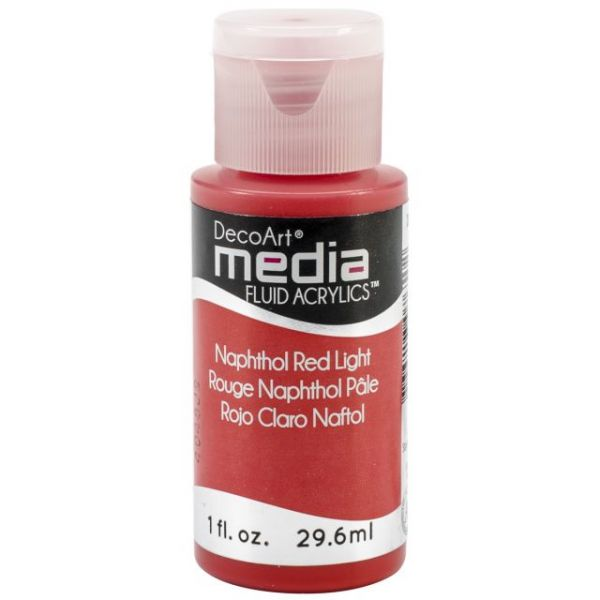 Deco Art Media Napthol Red Light Fluid Acrylics