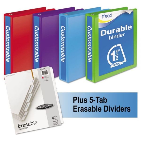 "Mead 1 1/2"" 3-Ring View Binders Bundle Pack"