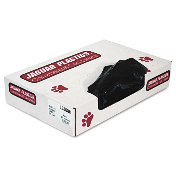 Jaguar Plastics Industrial Strength 60 Gallon Trash Bags