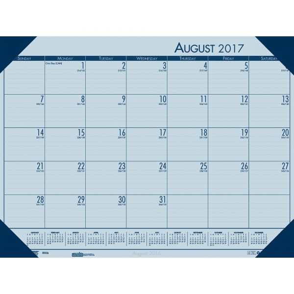 House of Doolittle EcoTones Academic Calendar Desk Pad