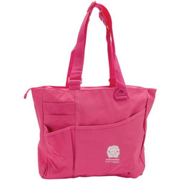 """Knit Happy Bright Bag 15""""X13""""X4"""""""