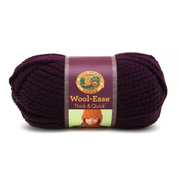 Lion Brand Wool-Ease Thick & Quick Yarn - Eggplant