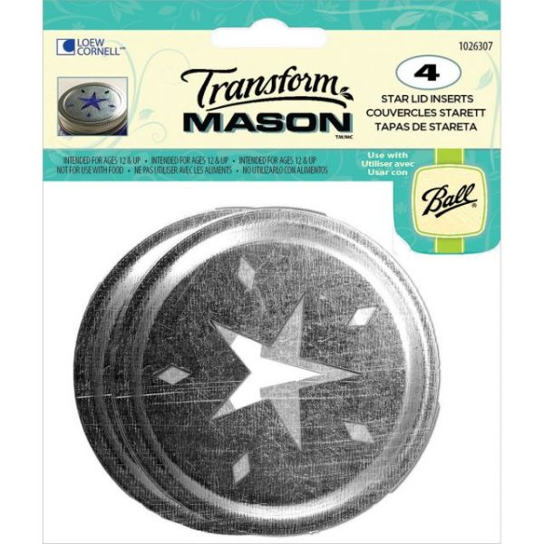 Transform Mason Ball Lid Inserts 4/Pkg