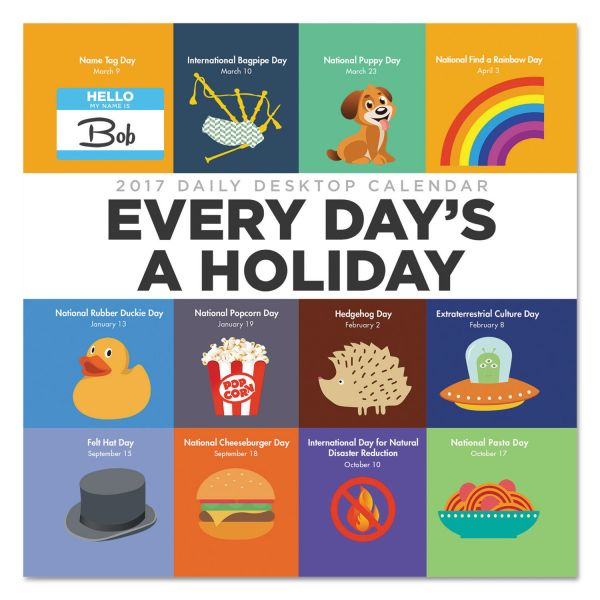 TF Publishing Every Day's A Holiday Box Desk Calendar