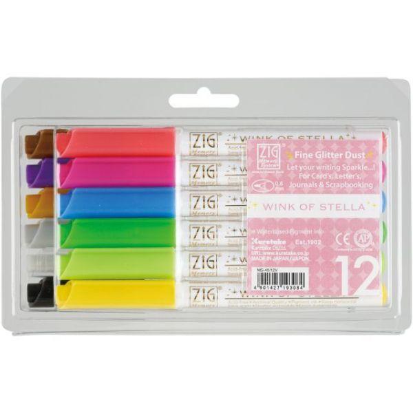 Zig Memory System Wink Of Stella Glitter Markers 12/Pkg