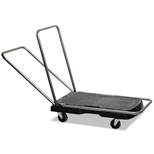 Rubbermaid Utility-Duty Triple Trolley Cart, 250 lb Capacity, 20-7/8 x 31-3/4 Platform, BK
