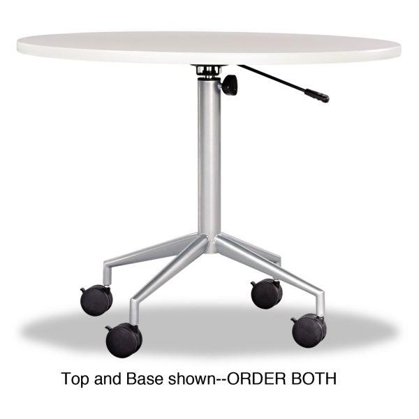 "Safco RSVP Series Round Table Top, Laminate, 36"" Diameter, Gray"