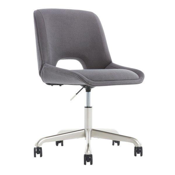 Elle Decor Laissy Low-Back Task Chair (Gray)