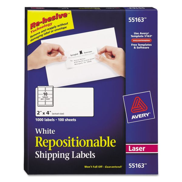 Avery Repositionable Shipping Labels